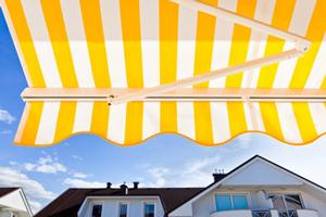 Fabric patio awning